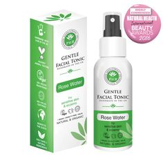 PHB's Organic Rose facial tonic is incredibly nourishing and hydrating for skin, helping to gently purify, improve skin tone and calm redness. It helps to restore skin's natural PH balance and close pores whilst soothing sensitive or irritated skin. Organic Roses, Organic Aloe Vera, Organic Beauty, Kai, Facial Wash, Natural Cosmetics, Sensitive Skin, At Least