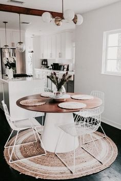 s t a r s t u d d e d s t u f f . round kitchen table ideas, DIY, decor.