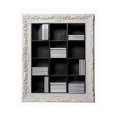 Heal's | Seletti White Framed CD Shelf - CD and DVD Storage - Office Storage - Office