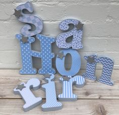 decorated baby wooden letters rainbow colour nursery decor free