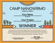 Camp 2015 - Winner Certificate
