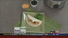 Slow Cooker Shredded Chicken Burritos #recipe from WLUK FOX 11 Good Day Wisconsin Cooking with Amy Hanten. #recipes #video