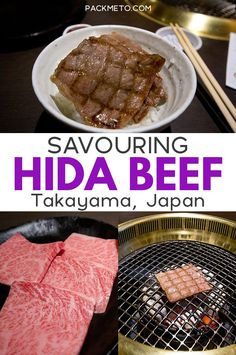 Forget Kobe beef and head to Takayama to get a taste of Hida beef via. Travel in Asia. Japan Travel Tips, Asia Travel, Asia Food, Kobe Beef, Drinking Around The World, Takayama, Best Places To Eat, Foodie Travel, Street Food