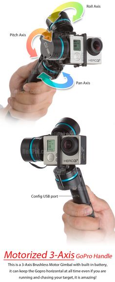 HeliPalFeiyu G3 Handheld Stabilizer for GoPro HERO 3 (3-Axis) Feiyu-Acc-Handheld-3Axis-Gimbal USD $369.90
