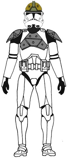 clone commander gree coloring pages - photo#23