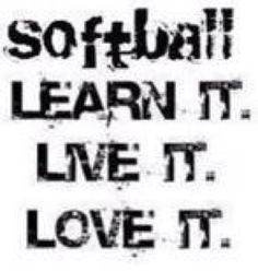 Softball was my thang in high school...I would actually love to get a Summer league put together, it's an awesome sport!
