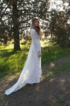 Vintage Style Wedding Dresses Lace  Tessa by DaughtersOfSimone