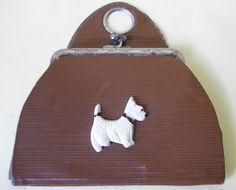 Child's purse with dog decoration