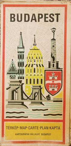 Budapest Retro Map Cover