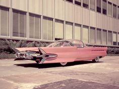 STRANGE OLDE CONCEPT CARS - 1955 FORD LA TOSCA - AMAZING FINS & BUBBLE TOP! WOW!