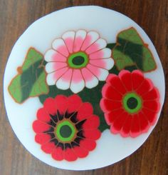 https://flic.kr/p/P3m9Wf | Polymer clay flowers cane 456