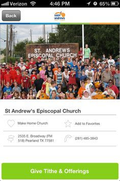 St. Andrew's Episcopal Church in Pearland, Texas #GivelifyChurches