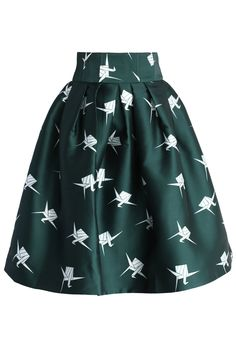 Paper Cranes Pleated Tulip Skirt