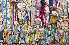 TAKESHI MURAKAMI Un artista japonés que se ha convertido en uno de los nombres más conocidos del arte contemporáneo asiático.   Su estilo está basado en las técnicas y temas tradicionales japoneses llamado nihonga. Su trabajo tiene tintes pop mezclados con elementos muy japoneses como el anime y manga.