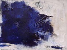 "Saatchi Art Artist Daniela Schweinsberg; Painting, ""feathery blue something #3 (work no. 2014.10)"" #art"