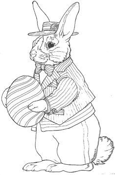 Striped Dutch Bunny