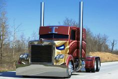 """""""G-Man"""" Johnston's decision to do a full custom restoration of this 1986 Kenworth was like paying respect to an old friend. I searched for this on /images Show Trucks, Big Rig Trucks, Old Trucks, Custom Big Rigs, Custom Trucks, Ranger, Super Pictures, Peterbilt Trucks, Peterbilt 359"""