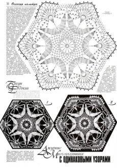 just assamble them Mehr Filet Crochet, Crochet Mandala, Crochet Diagram, Tunisian Crochet, Crochet Doilies, Crochet Flowers, Irish Crochet, Crochet Collar Pattern, Crochet Motif Patterns