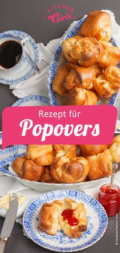 Rezept: Popovers selber machen French Toast, Rolls, Tasty, Sweets, Snacks, Breakfast, Cake, Ethnic Recipes, Desserts