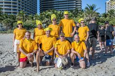 Yellow team. Anouska: Fiery Luxury Event for Client at Miami Beach.