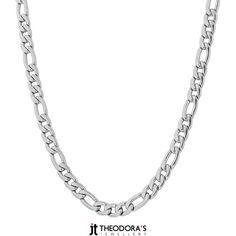 Modern unisex stainless steel figaro chain necklace 45cm+5cm chain extension long and 4mm width made of stainless steel. This chain is really easy to wear all day and it doesn't darken! No1 trend in accessories!----------------------------------------------------Μοντέρνα ατσάλινη αλυσίδα λαιμού figaro chain γυναικεία και ανδρική κοντή μήκους 45cm + 5cm προέκταση και λεπτή πλάτους 4mm από ασημί ανοξείδωτο ατσάλι. Φοριέται άνετα όλη μέρα, ταιριάζει με τα πάντα και δεν μαυρίζει!