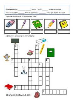 Crucigramas infantiles para primer y segundo grado de primaria ...