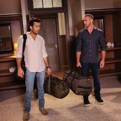 Jake McLaughlin as Ryan Booth and Aaron Diaz as Leon Velez. Quantico season 2