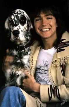 David Cassidy and a furry friend. RIP David Cassidy 1950-2017. Repinned by Tiffany Says Hop Into My DeLorean (1)