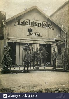 Download this stock image: First World War / WWI France frontline cinema for German soldiers in Rethel Ardennes March 1916, - FGR6GJ from Alamy's library of millions of high resolution stock photos, illustrations and vectors.