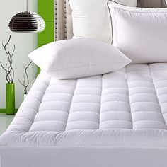 Fitted Quilted Mattress Pad Cover ( 8-21 Inch Deep Pocket ) - Luxurious 300TC 100% Cotton Top - Storm Goose Down Alternative Filled - Cal King Mattress Topper. For product & price info go to:  https://all4hiking.com/products/fitted-quilted-mattress-pad-cover-8-21-inch-deep-pocket-luxurious-300tc-100-cotton-top-storm-goose-down-alternative-filled-cal-king-mattress-topper/