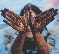 Organic henna for a vegan wedding