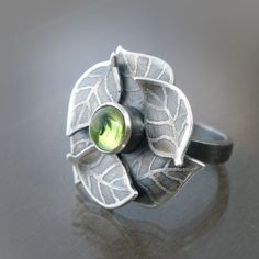 Sterling leaf ring by Lisa Hopkins Design
