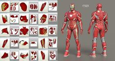 Mark 48 Infinity War model, pattern for make wearable suit, DIY. ~~~ UPDATE #6 ~~~ Fully revised, all new parts. My 3D-model and unfold. Default size - 180cm (good for 175-185cm height). Format: Pepakura v.4 file, textured. EASY Foam/Cardboard unfold. All parts are subject to change.