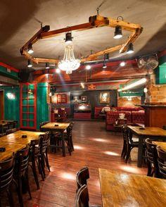 #pub Old Nick pub in Sinaia, Romania, designer Radu Savopol