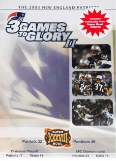 3 GAMES TO GLORY II NEW ENGLAND PATRIOTS DVD 2003 NEW SEAL SUPER BOWL Free Ship
