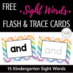 sight words | FREE 15 sight words flash cards | tracing cards | Subscribe to our mailing list to download this resource, plus other resources in our growing free resource library.