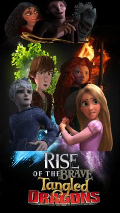 Rise of the Brave Tangled Dragons. Pretty cool but poorly put together movie poster. AWESOME THOUGH.