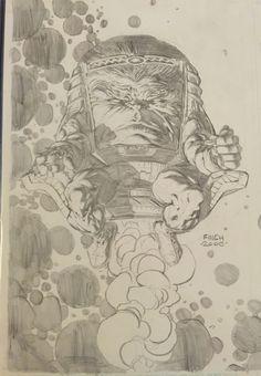Ungoliantschilde — some artwork that David Finch penciled. Comic Book Artists, Comic Artist, Comic Books Art, Comic Book Drawing, David Finch, Marvel Drawings, Marvel Villains, Dc Comics Art, Marvel Art