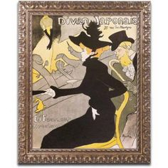 Trademark Fine Art Divan Japonais Canvas Art by Henri Toulouse-Lautrec, Gold Ornate Frame, Size: 16 x 20