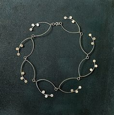 "Necklace | Amenda Tate. ""Bloom"". Sterling silver"
