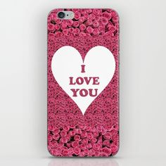 I Love You Valentine Roses iPhone Skin by ellisewalburn I Love You, My Love, Iphone Skins, Ipod, Collections, Phone Cases, Rose, Te Amo, Pink