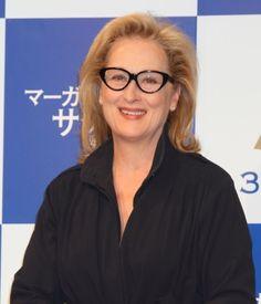 Meryl Streep in cat eye glasses