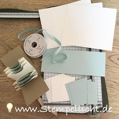 Stempellicht: Anleitung Teebeutelbuch Mini Scrapbook Albums, Mini Albums, Punch Board, Happy Mail, Stamping Up, Xmas Gifts, Deco, Paper Crafts, Place Card Holders