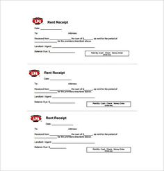 Rent Receipt Free , Receipt Template Doc For Word Documents In Different  Types You Can Use
