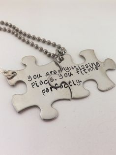 Personalize Your Own His and Her Puzzle Piece by MissAshleyJewelry, $45.00