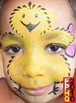 chick face paint