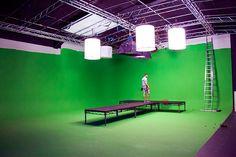 Studio 1 Green Screen Film Studio with catwalk Box Studio, Video Studio, Film Studio, Production Studio, Old Screen Doors, Wooden Screen Door, Studios Architecture, Facade Architecture, Green Screen Photography