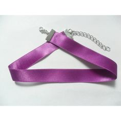 "Dainty Purple satin choker necklace, 5/8"" wide, pick your neck size. ($3.30) ❤ liked on Polyvore featuring jewelry, necklaces, purple necklace, purple jewellery, choker jewelry, choker jewellery and purple jewelry"