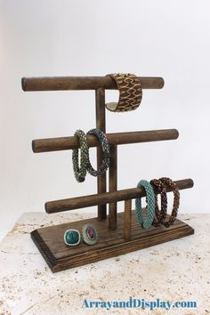 Jewelry Display 3-Bar Bracelet Stand