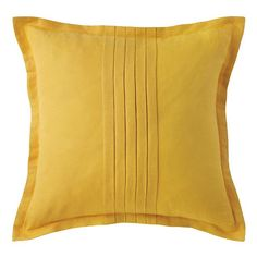 Harper Pillow in Sun (Solid Pattern, decorative pillows) | Room Furnishing Accessories, Accent Pillows from Company C (New)